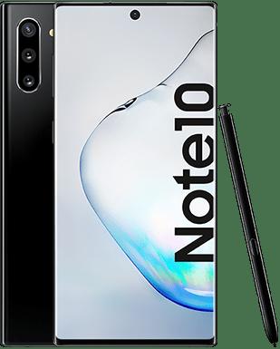 Samsung Galaxy Note10 mit Rückseite