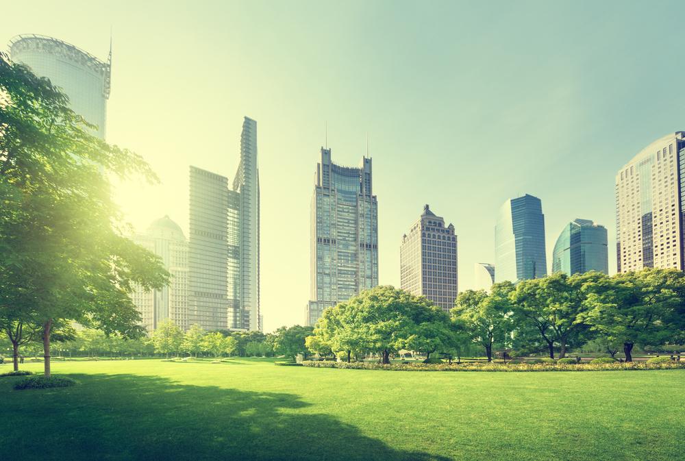 park in lujiazui financial center, Shanghai, China-1